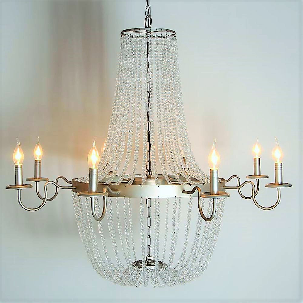 Bernadette smooth crystal empire chandelier au courant interiors bernadette smooth crystal empire chandelier au courant interiors aloadofball
