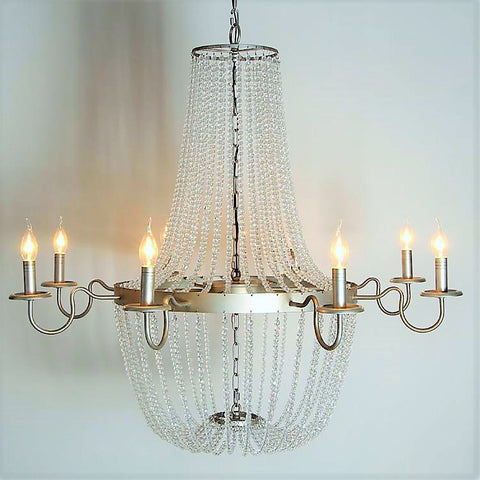 Bernadette - Smooth Crystal Empire Chandelier