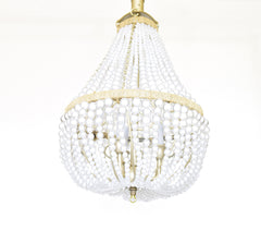Chloe - Clear/ White Empire Chandelier-  10% ASDF Charity - Au Courant Interiors