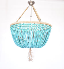 Trevor -  Turquoise Open Chandelier - Au Courant Interiors