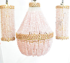 Julia - Rose Quartz Empire Chandelier - Au Courant Interiors