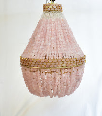 Julia Lux  - Rock Crystal Empire Chandelier - Au Courant Interiors