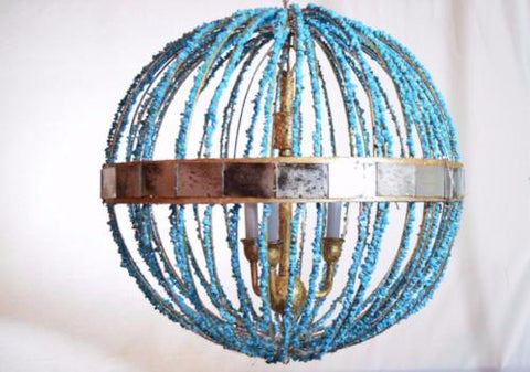 Grand-mere - Turquoise Sphere Chandelier
