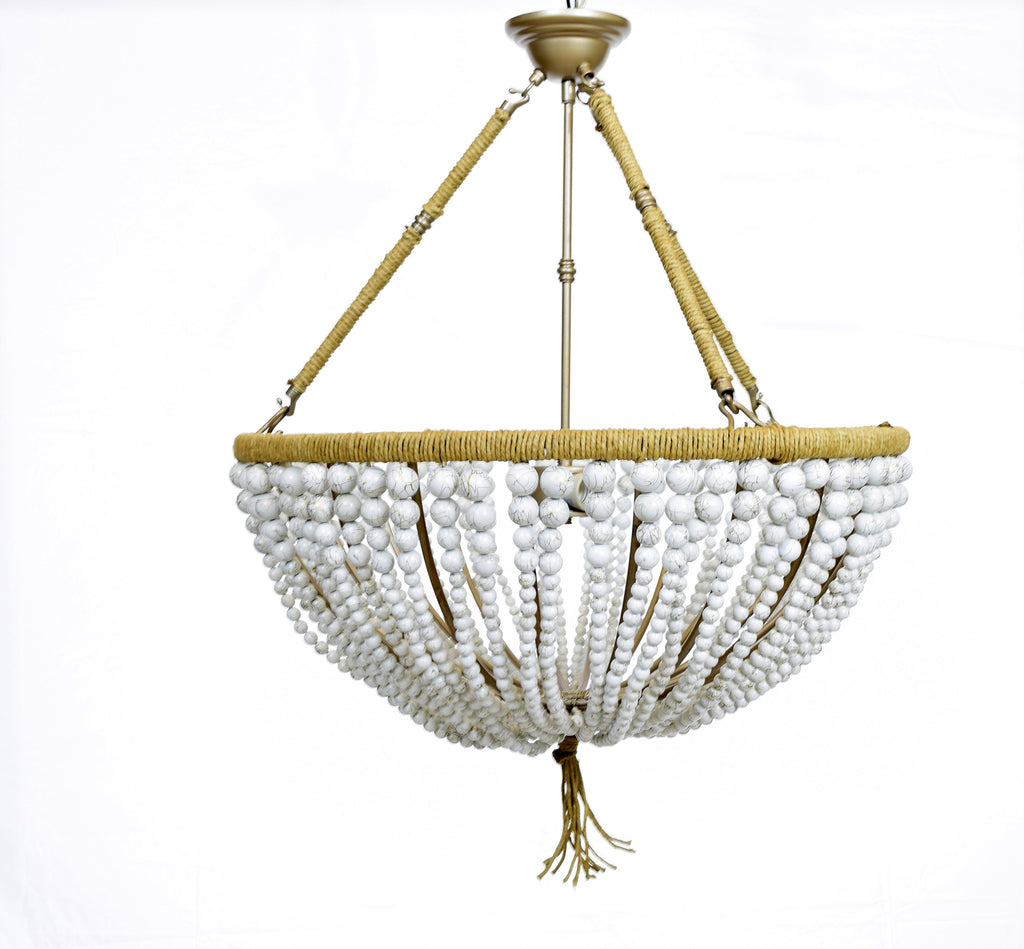 Marcelline Painted Bead Open Chandelier - Au Courant Interiors