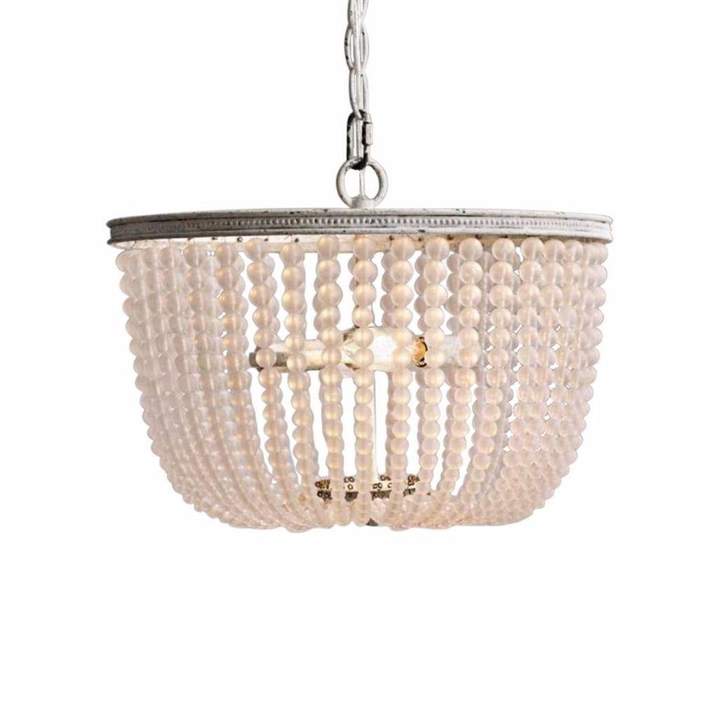 Gabi - Smooth Frosted Beaded  Empire Chandelier - Au Courant Interiors