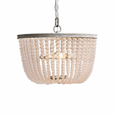 Gabi - Smooth Frosted Beaded  Empire Chandelier