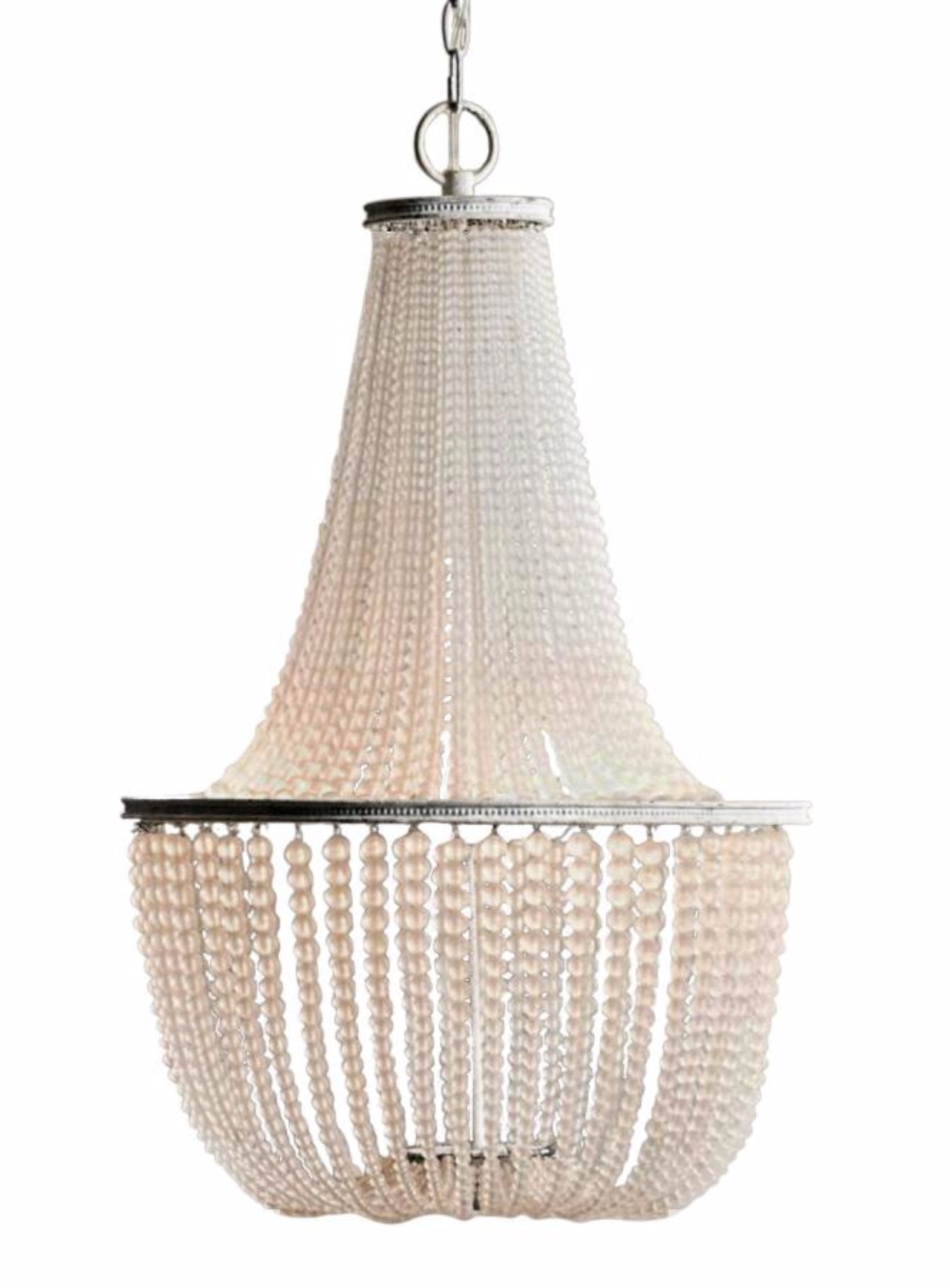 Gabrielle Frosted Glass Beaded Empire Chandelier