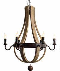Halette - Wooden Empire Chandelier - Au Courant Interiors