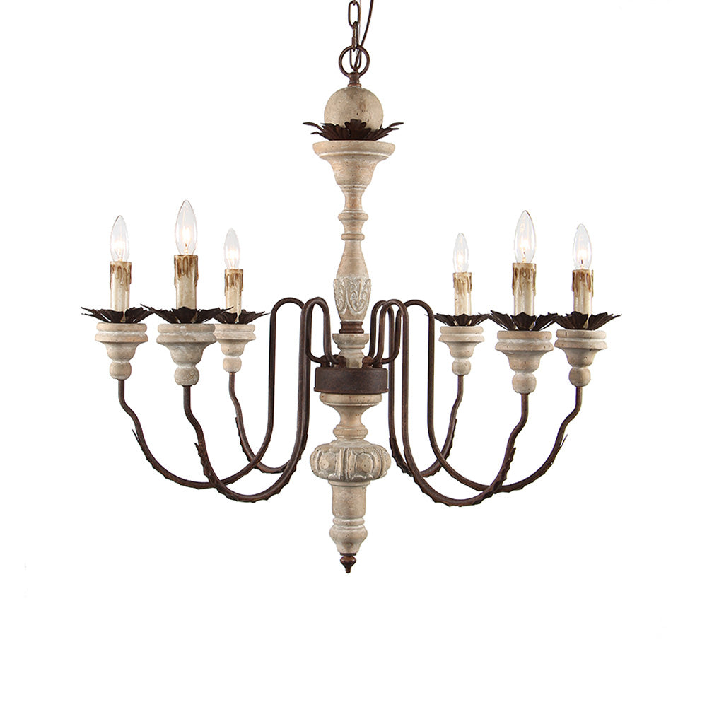 Harriette - Wooden Chandelier - Au Courant Interiors