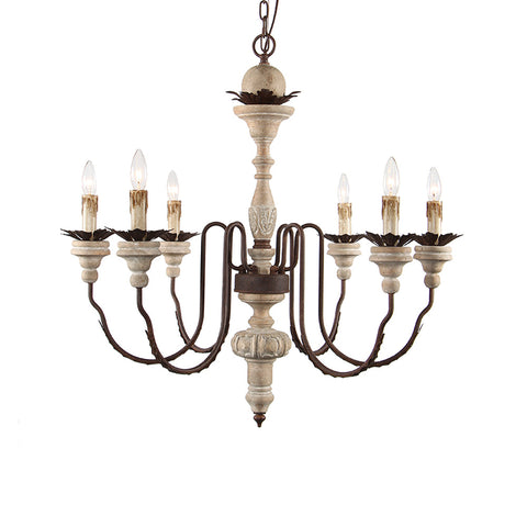 Harriette - Wooden Chandelier