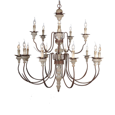 Helaine- Wooden Chandelier