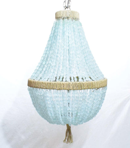 Celeste - Sea Glass Nuggets Empire Chandelier