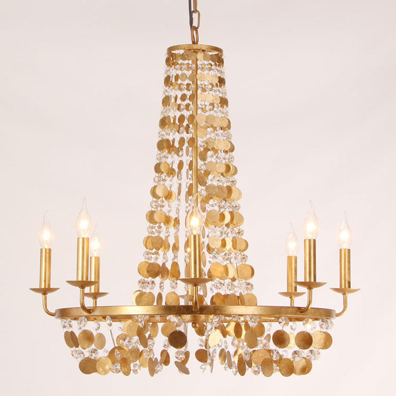 Isabeau - Golden Framed Chandelier - Au Courant Interiors