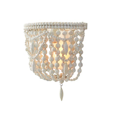 Kari Primitive Wooden Beaded Wall Sconce - Au Courant Interiors