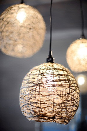Sophie -  3 Pendant Hemp Twine Ceiling Light