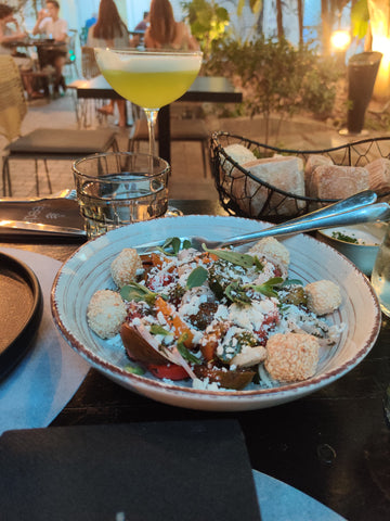A salad with traditional Greek flavours with a twist (in Feedel restaurant)