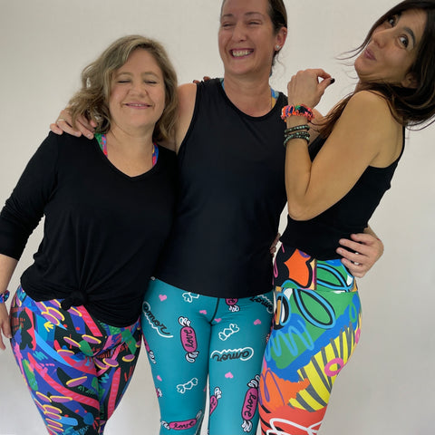 colourful leggings made from sustainable fabrics