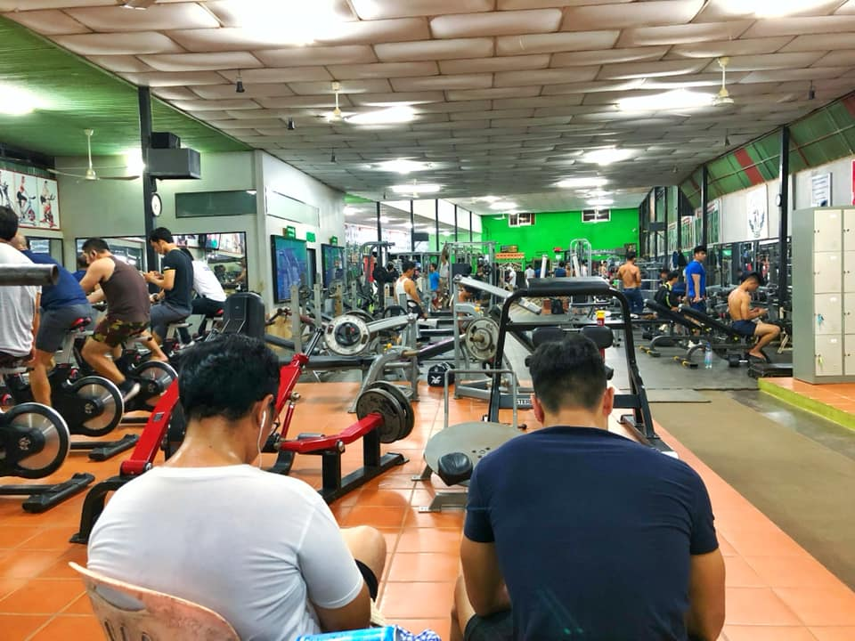 Angkor Muscle Fitness center weights and running machines