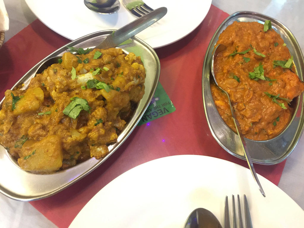 Aloo Gobi and Chicken Tikka Masala