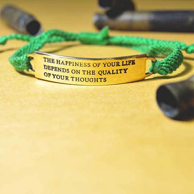 happiness quote bracelet 2