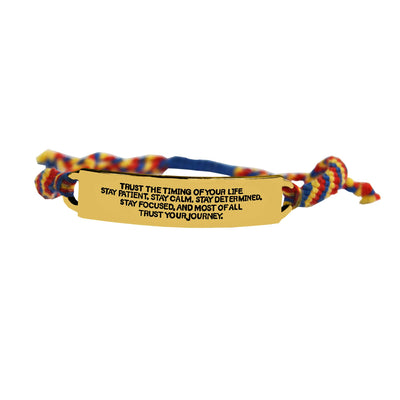 Trust Your Journey Quote Bracelet