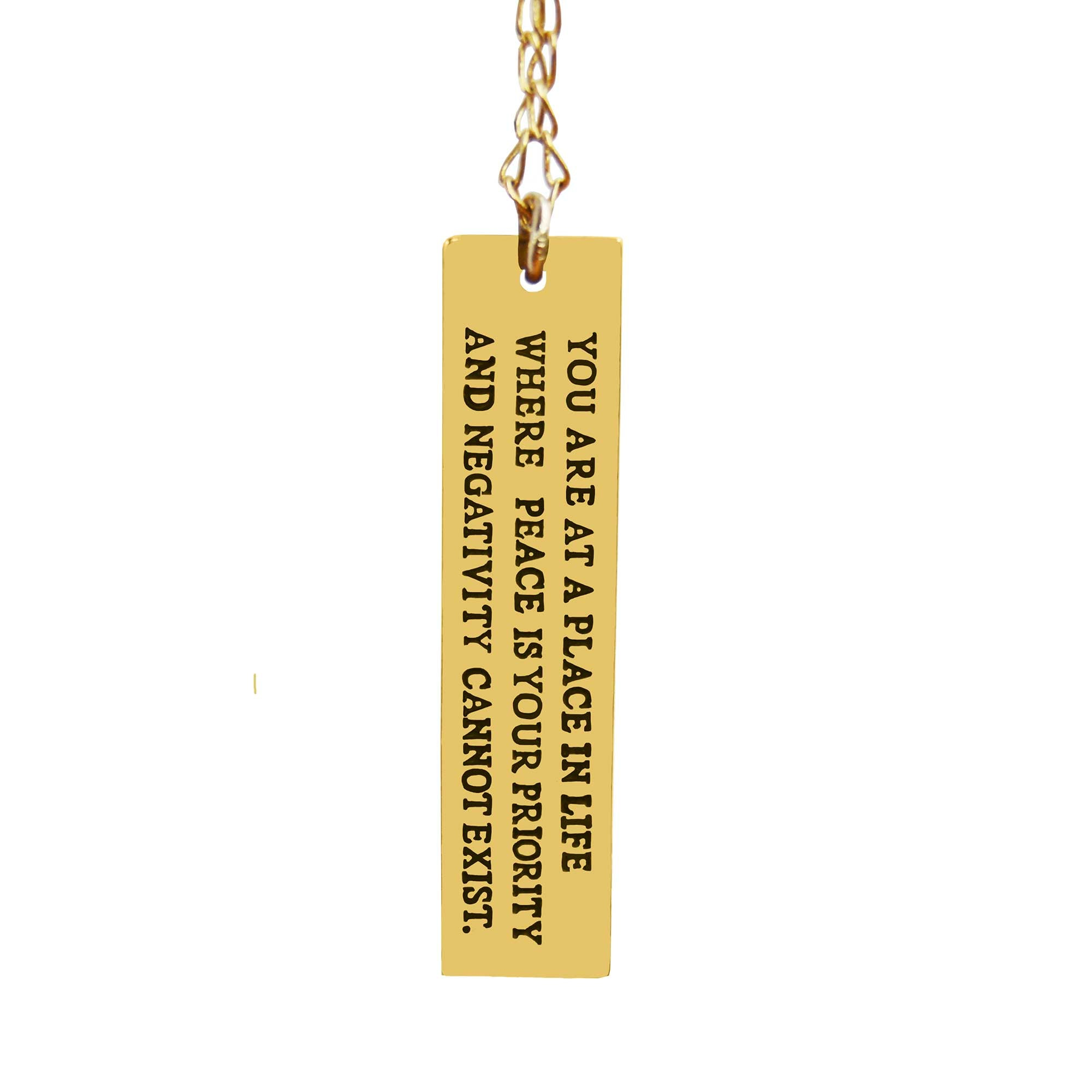 Negativity Quote Necklace