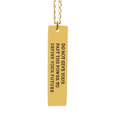 Anxiety Quote Necklace