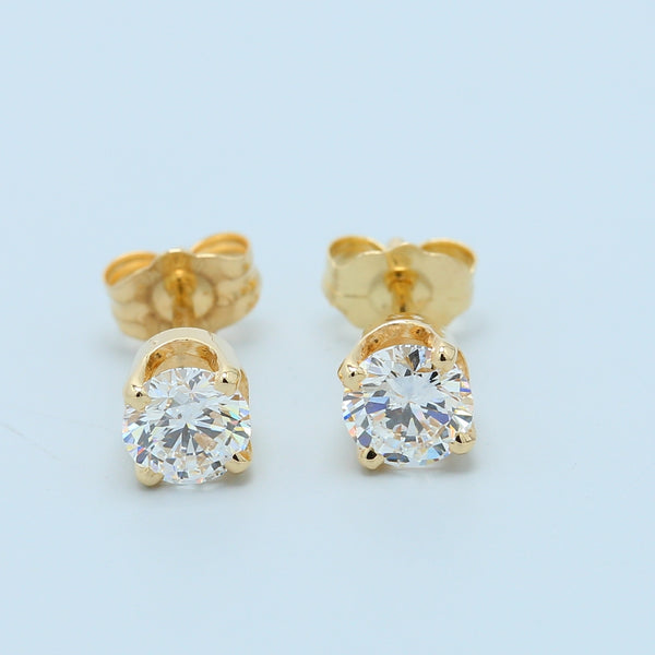 Brilliant Round Diamond Stud Earrings - 1477 Jewelers