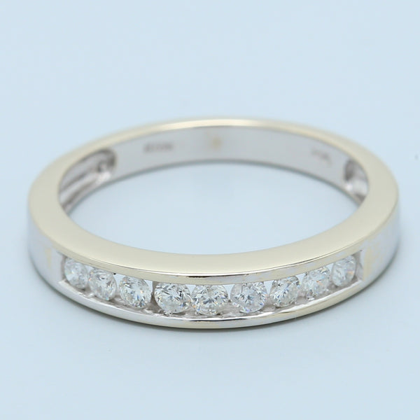 Channel Set Diamond Band in 14k White Gold - 1477 Jewelers