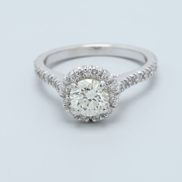 Halo Diamond Engagement Ring - 1477 Jewelers
