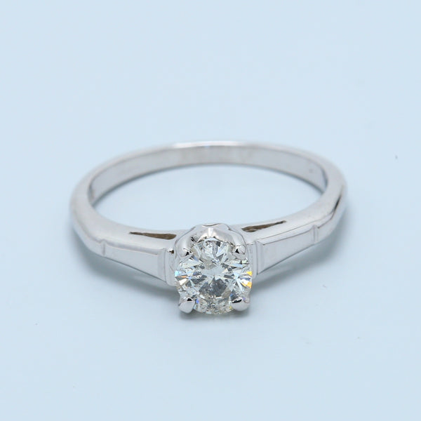 Half Carat Round Diamond Solitaire Engagement Ring - 1477 Jewelers