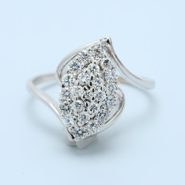 Marquise Illusion Swirl Diamond Ring - 1477 Jewelers
