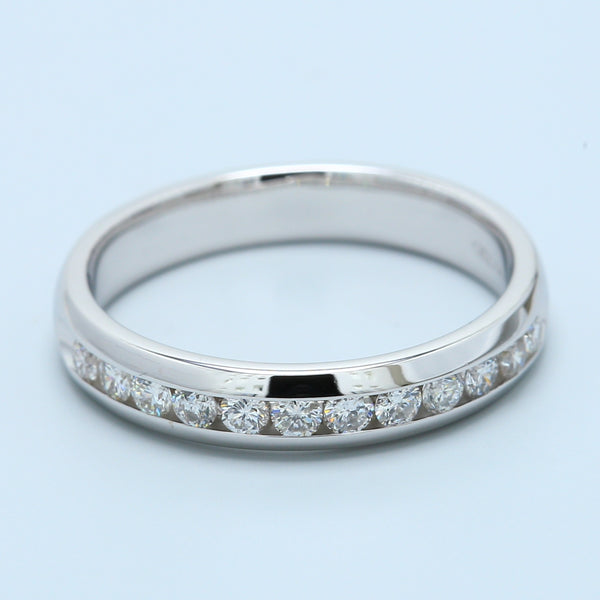 Channel Set White Gold Diamond Wedding Band - 1477 Jewelers