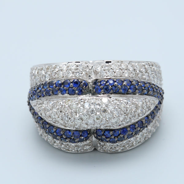 Salavetti Designer Sapphire and Diamond Cocktail Ring - 1477 Jewelers