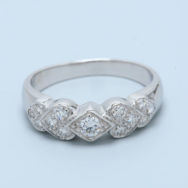 Hearts and Arrows Diamond Band - 1477 Jewelers