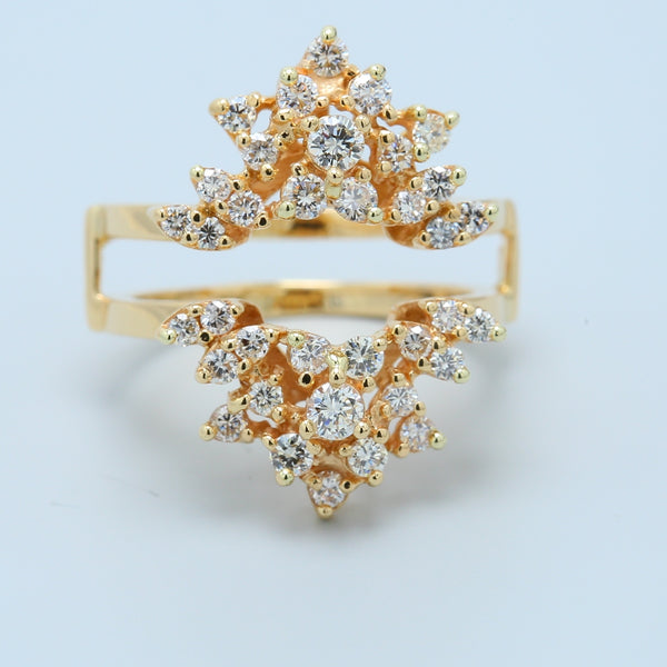 Starburst Diamond Solitaire Ring Guard - 1477 Jewelers
