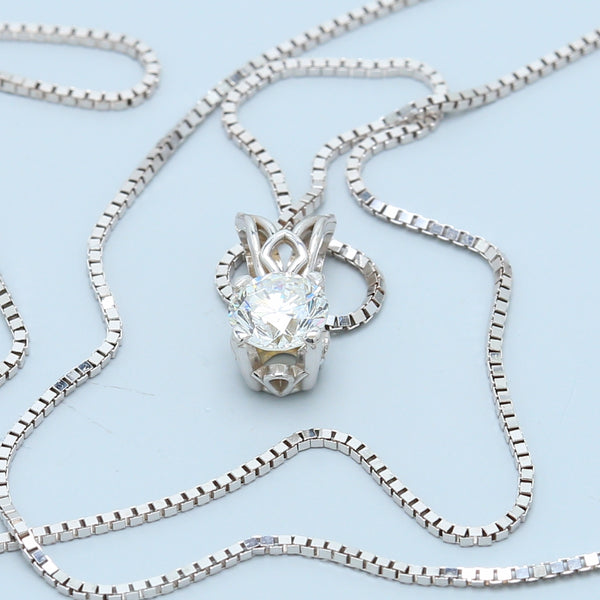 Classic Round Solitaire Diamond Pendant Necklace - 1477 Jewelers