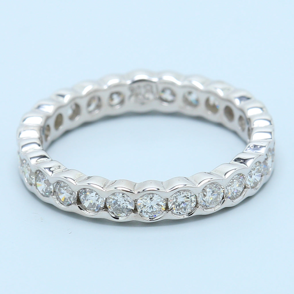 Bezel Diamond Eternity Band in 18k