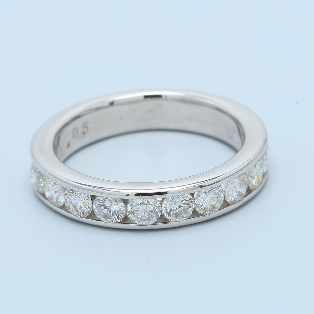 1.05ctw 10 Diamond Channel Set Band - 1477 Jewelers