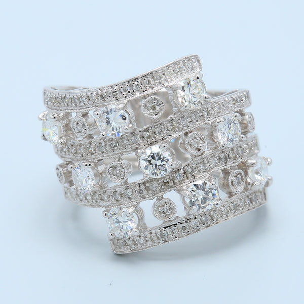 Modern Chic Diamond Cutout Cocktail Band - 1477 Jewelers