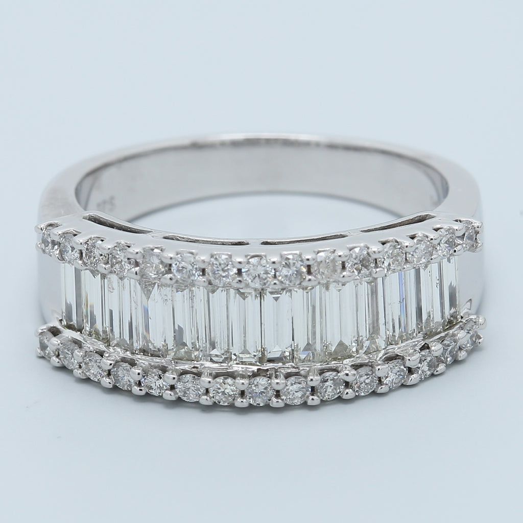 Baguette and Brilliant Round Diamond Band - 1477 Jewelers