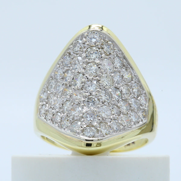 14k Yellow Gold Diamond Cluster Ring - 1477 Jewelers