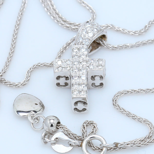 Roberto Coin Diamond Cross Necklace - 1477 Jewelers