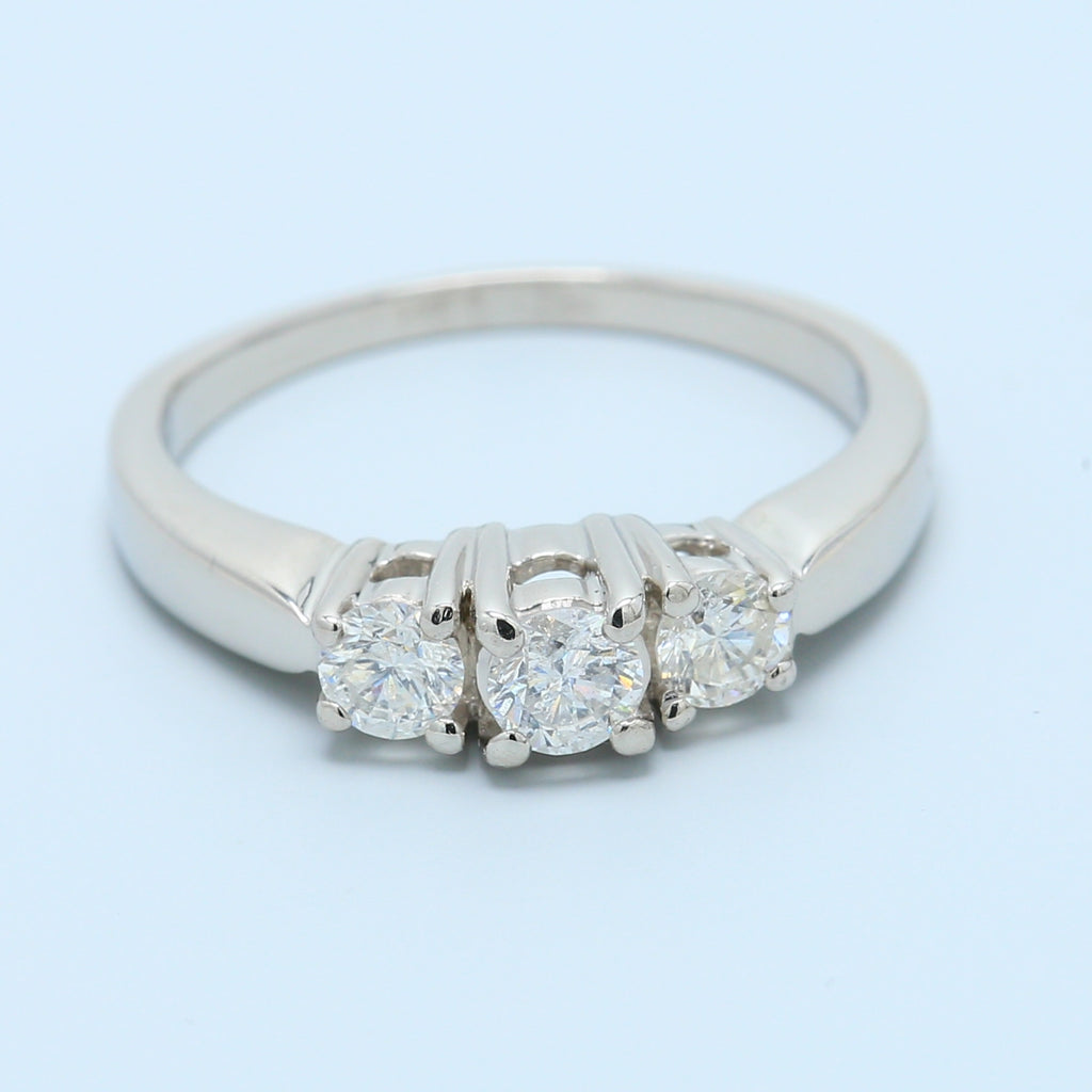 Three Stone Diamond Ring in Platinum - 1477 Jewelers