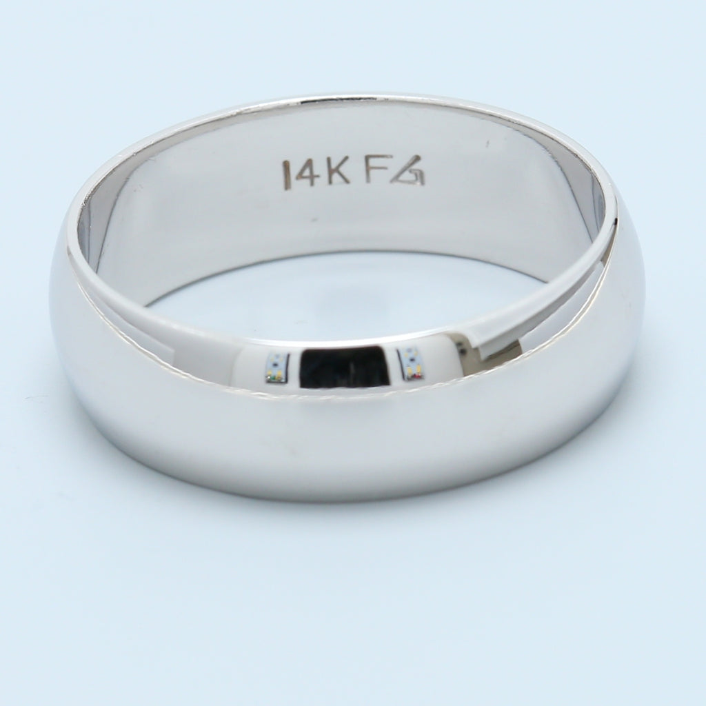 14k White Gold High Polish Band - 1477 Jewelers