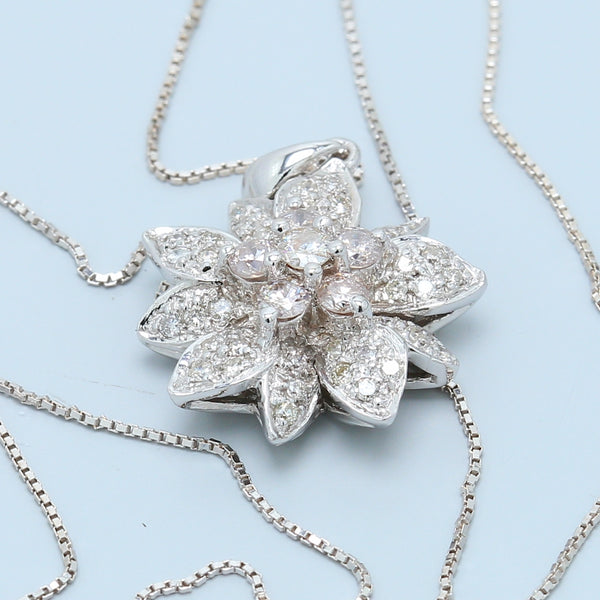 Dazzling Diamond Flower Necklace - 1477 Jewelers