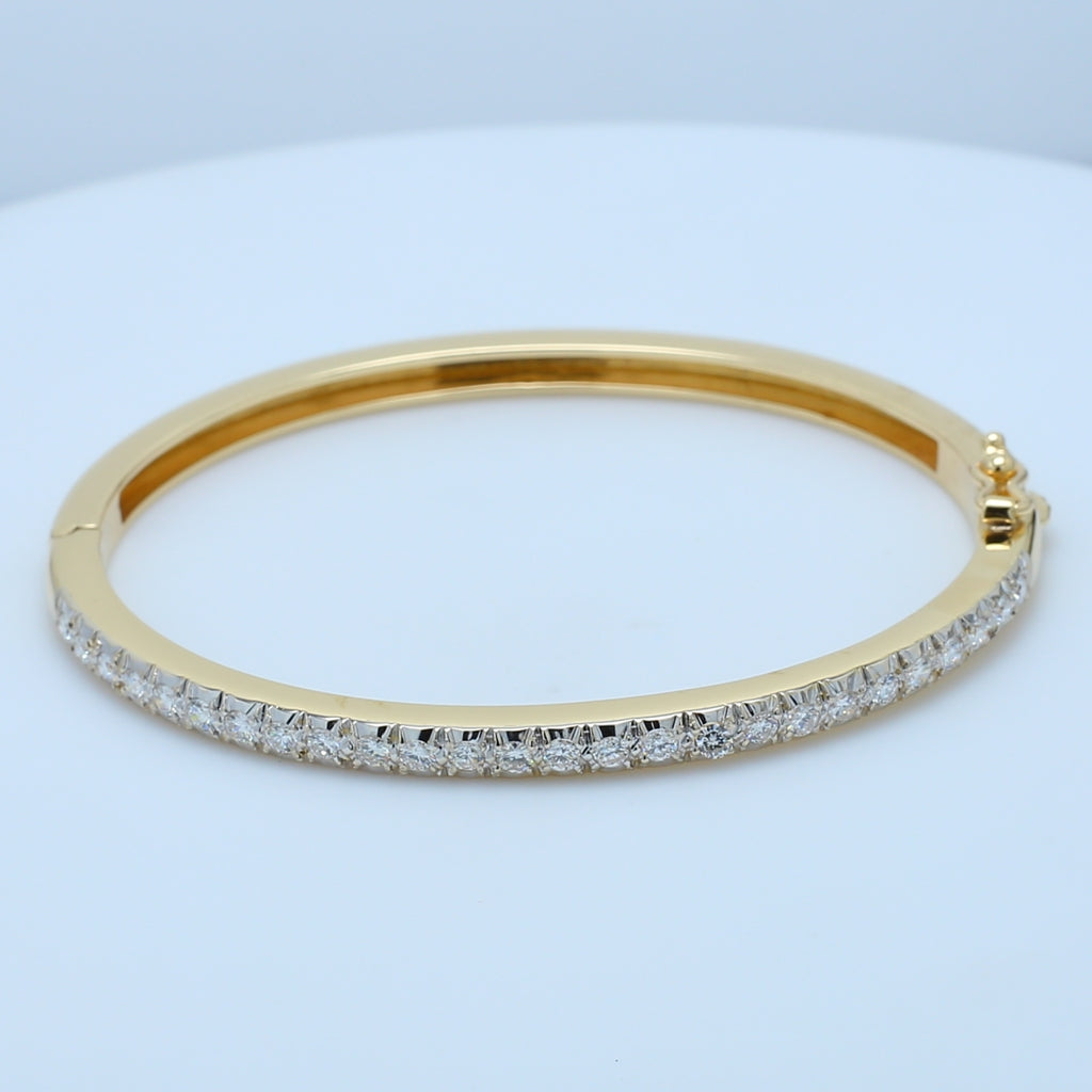 Classic Diamond Yellow Gold Bangle - 1477 Jewelers