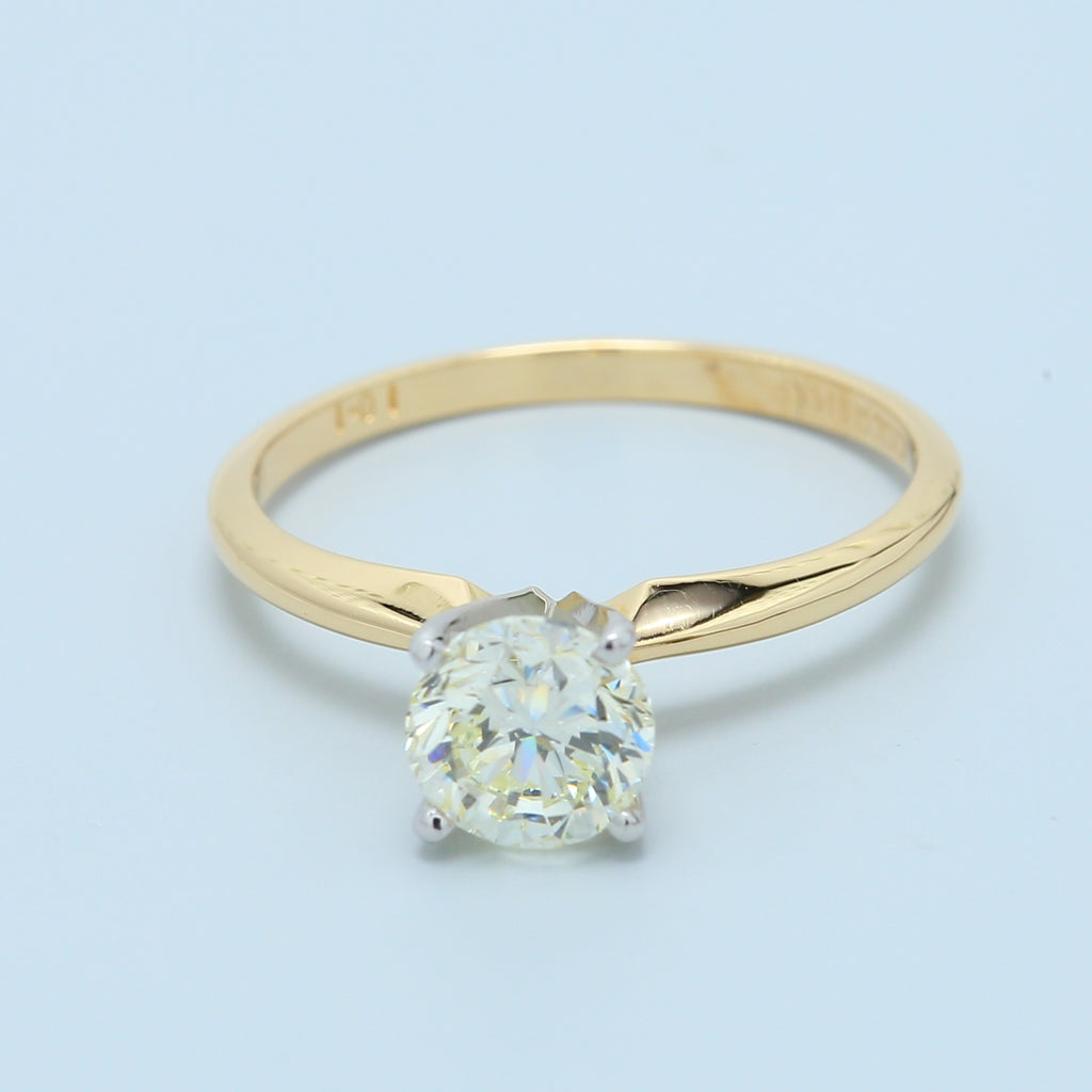 Stunning 1ct Brilliant Round VVS Solitaire Diamond Engagement Ring - 1477 Jewelers