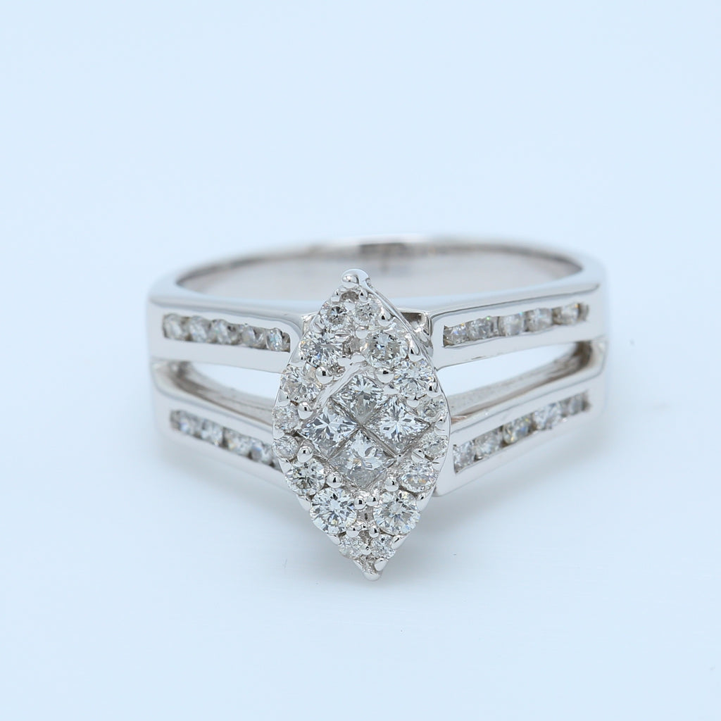 Retro Marquise Illusion Engagement Ring - 1477 Jewelers