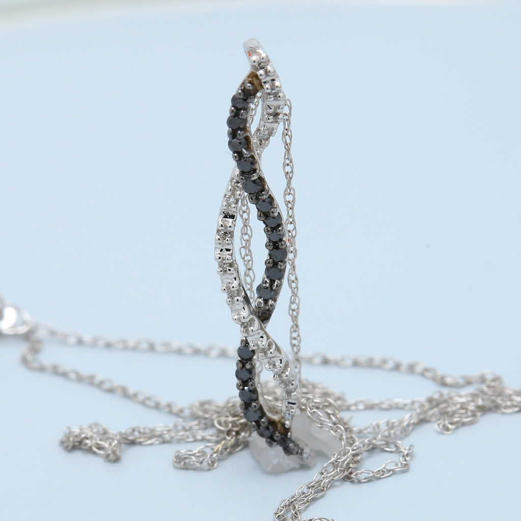 Black and White Diamond Journey Necklace - 1477 Jewelers